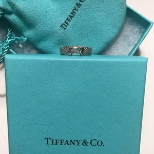 Tiffany & Co Sterling Silver Diamond Somerset Ring